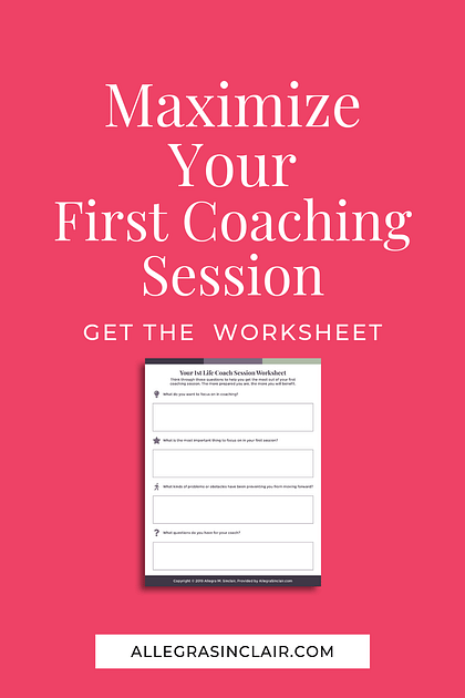 maximize your first coaching session