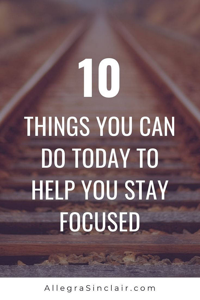 Having Trouble Staying Focused?